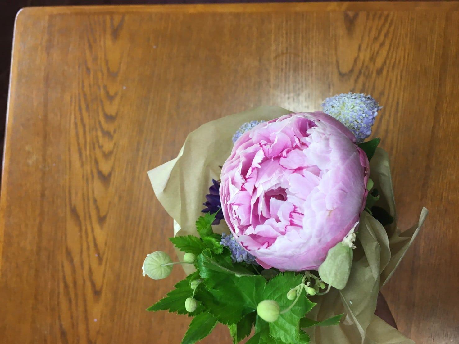 ブルーミーのピンクのお花