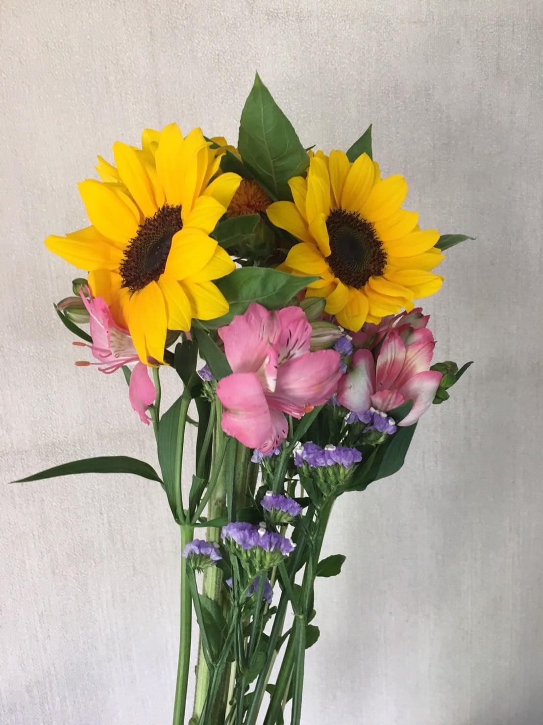ピュアフラワーのお花と花瓶