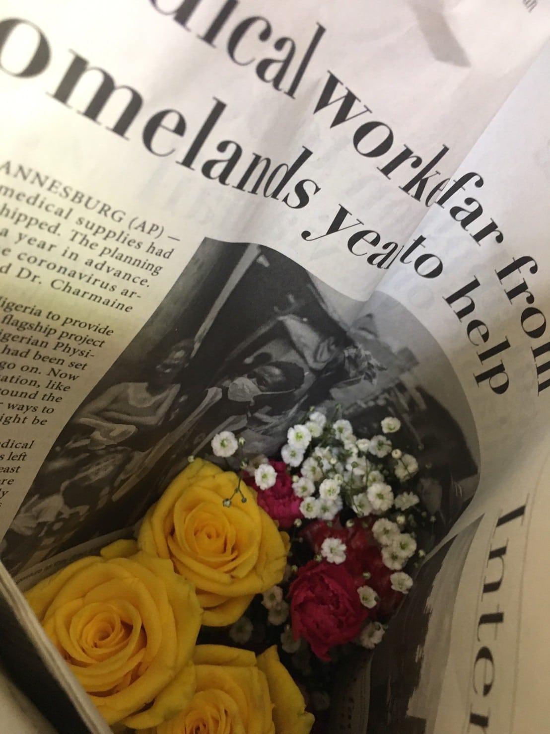 ピュアフラワーの梱包とお花