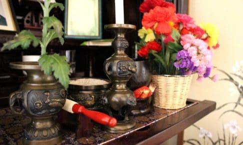 仏壇のきれいな花